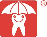 Zahnmännchen mit Schirm