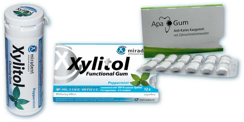 Zahnfreundliche Kaugummis mit Xylit