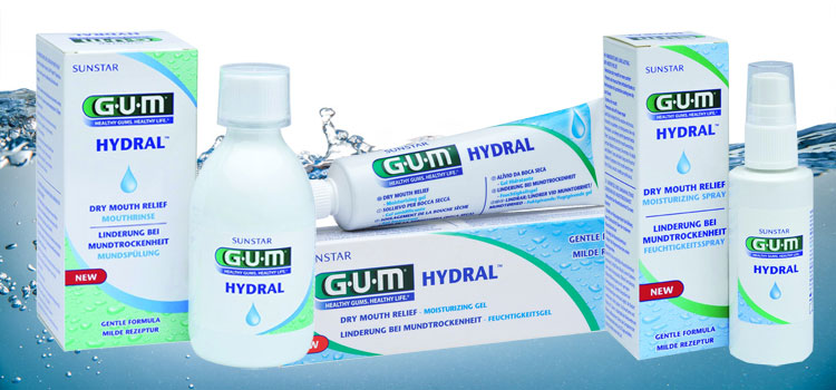 GUM® HYDRAL™ - Schnelle und langanhaltende Hilfe bei Mundtrockenheit