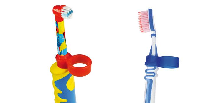 Sinnvoller Zahnputz-Assistent: die Greifhilfe HOLDI