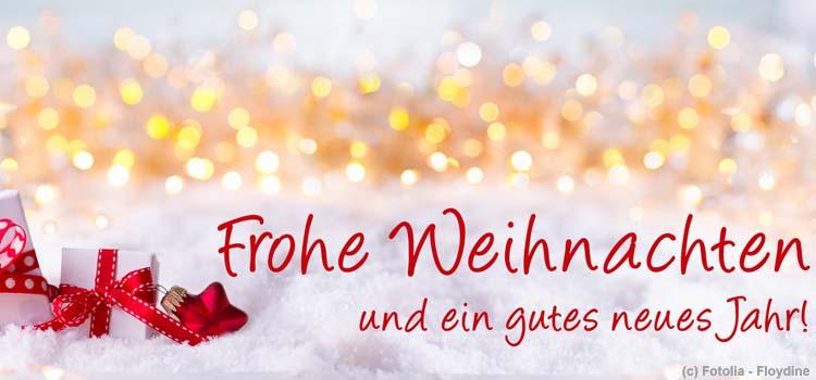 Frohe Weihnachten und einen guten Start ins Jahr 2017!