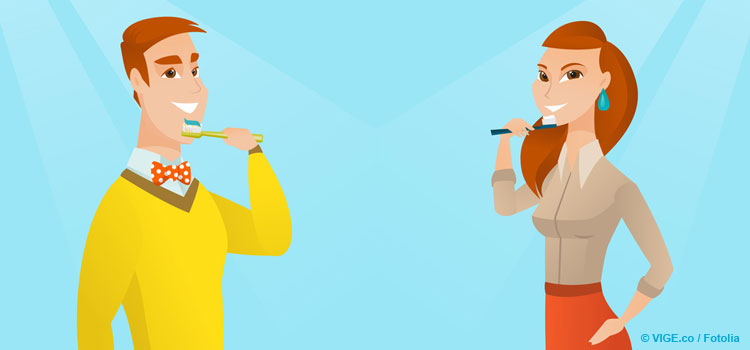 Umfrage-zur-Mundhygiene-Mann-Frau