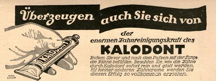 Anzeige für Kalodont Zahnpasta
