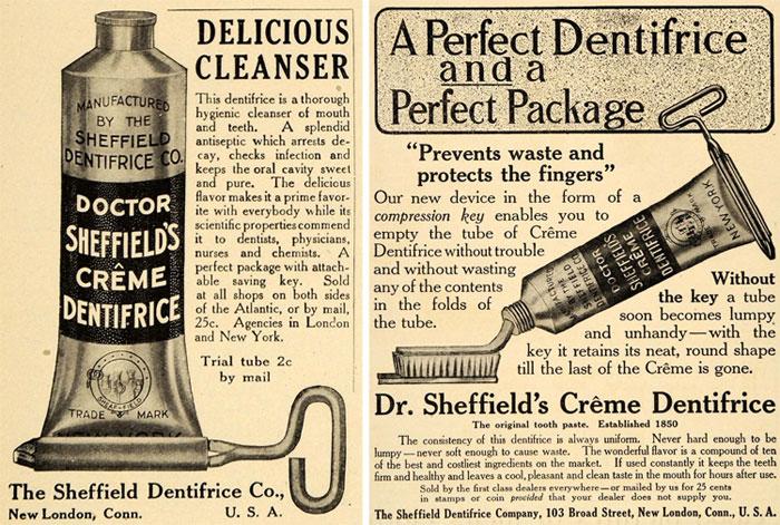 Dr. Sheffield's Zahnpastatube