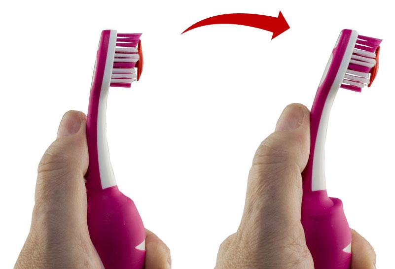 Push Brush: Erst drücken, dann bürsten.