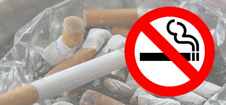 Weltnichtrauchertag 2019. Rauch und Mund.
