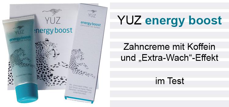YUZ energy boost Zahncreme im Test
