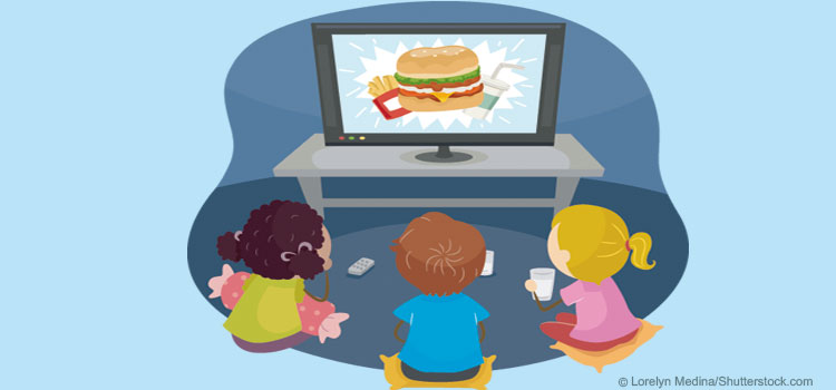 Kinder und Werbung für ungesunde Nahrungsmittel