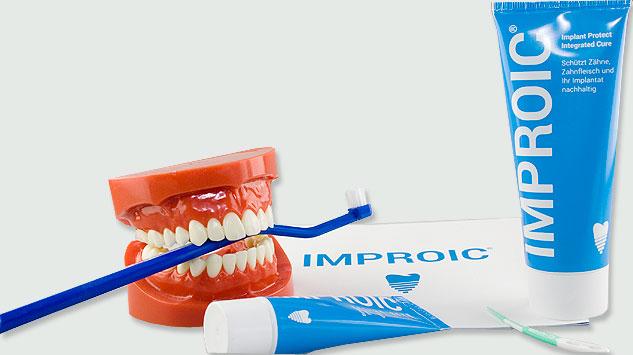 Spezialzahncreme für Implantate.